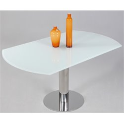 Chintaly Imports Dining Table in Starphire White