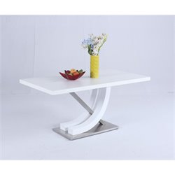 Chintaly Imports Dining Table in White