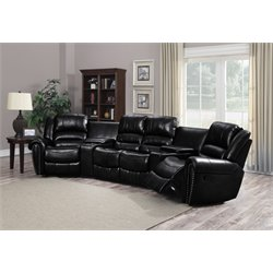 Chintaly Imports Laredo Reclining Right Chair in Black