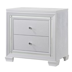 Chintaly Imports Lima 2 Drawer Nightstand in White
