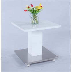 Chintaly Imports Square End Table in Glossy White