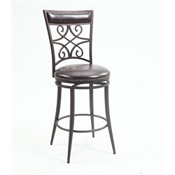 Chintaly Imports Faux Leather Bar Stool in Brown