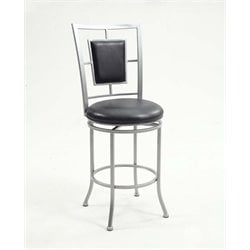 Chintaly Imports Faux Leather Bar Stool in Black
