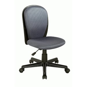 Chintaly Fabric Back and Seat Desk Chair in Gray Cloth Mesh