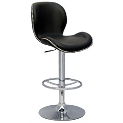 Chintaly Pneumatic Gas Lift Height Swivel Stool in Black