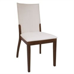 Chintaly Luisa Upholstered Back Dining Chair in Dark Walnut