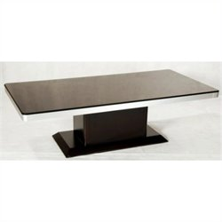 Chintaly Monique Cocktail Table in Black and Merlot