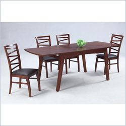 Chintaly Cheri 5 Piece Solid Oak Extension Dining Table Set