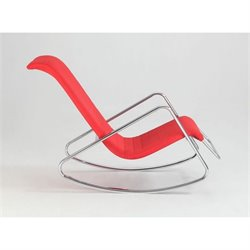 Chintaly Carrera Lounge Rocker in Red and Chrome