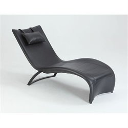 Chintaly Viper Chaise Lounge in Black