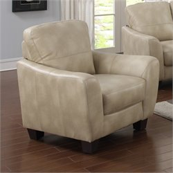 Chintaly Fremont Club Leather Chair in Taupe