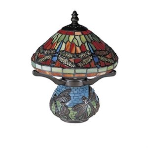 Dale Tiffany Red Dragonfly Tiffany Accent Lamp
