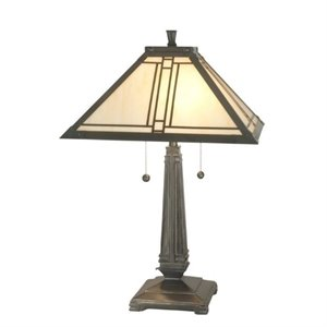 Dale Tiffany Lined Mission Table Lamp