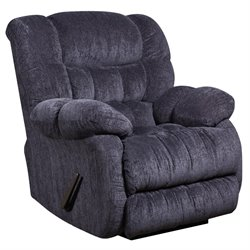 Microfiber Rocker Recliner in Indigo Blue