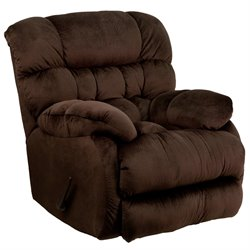 Microfiber Rocker Recliner in Chocolate