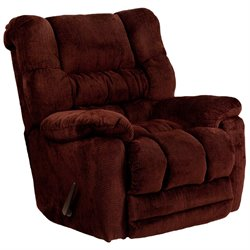 Microfiber Rocker Recliner in Merlot