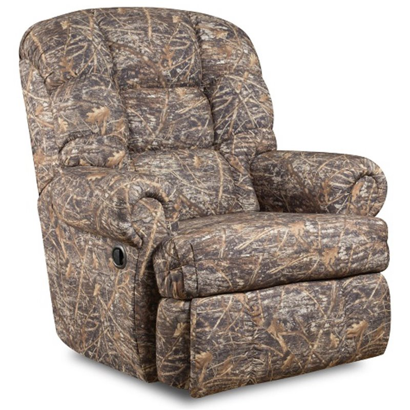 Big and tall recliner in camouflage beige am 9930 1355 gg for Camo chaise lounge