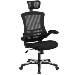 High Back Swivel Office Chair in Black