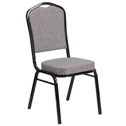 Fabric Banquet Chair in Black and Gray