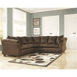 Fabric Corner Sectional in Cafe