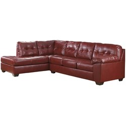 Left Facing Sectional in Red