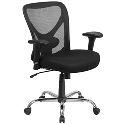 Big and Tall Office Swivel Office Chair in Black