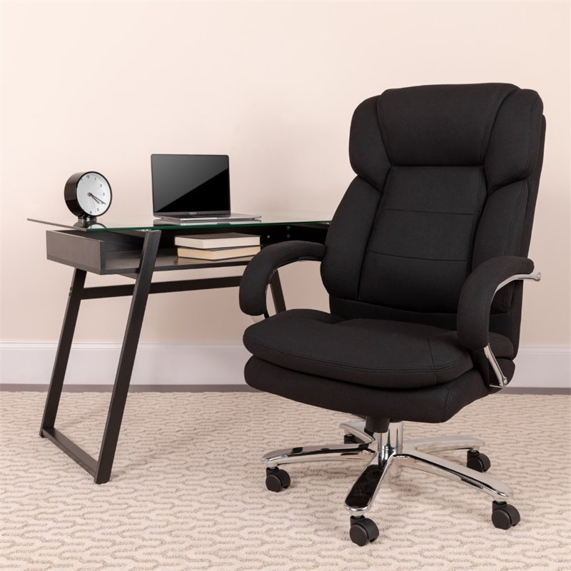 Flash Furniture Big and Tall Fabric Swivel Office Chair in ...