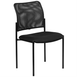 Mesh Stacking Side Chair in Black