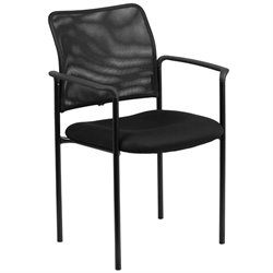 Mesh Stacking Side Arm Chair in Black