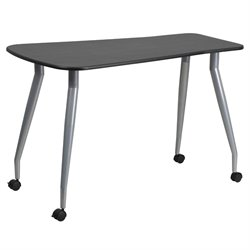 Flash Furniture Mobile Writing Desk in Black
