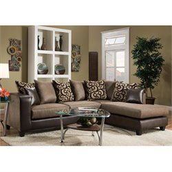 Right Facing Sectional in Brown