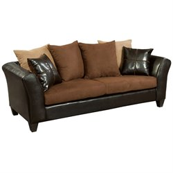 Flash Furniture Jefferson Faux Leather Sofa in Sierra Chocolate