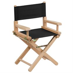 Kids Directors Chair in Black