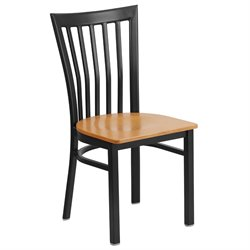 Restaurant Dining Chair in Black and Natural