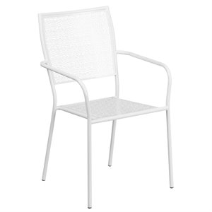 Steel Patio Chair in White