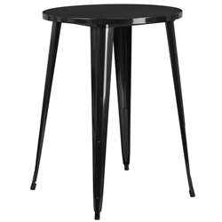 Metal Patio Bistro Table in Black