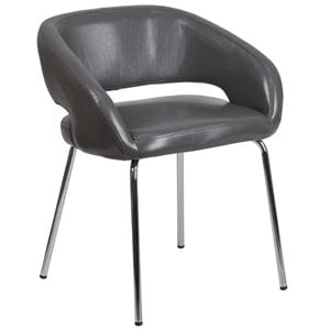 Leather Chair in Gray