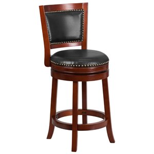 Wooden Counter Stool in Brown