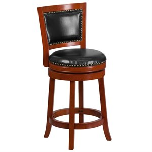 Wooden Counter Stool in Black