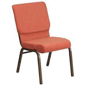 Fabric Church Chair in Cinnamon and Goldvein