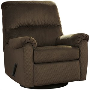 Flash Furniture Fabric Swivel Glider Recliner