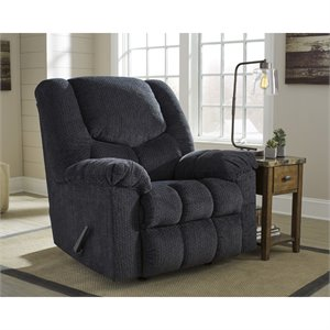 Flash Furniture Fabric Rocker Recliner in Slate