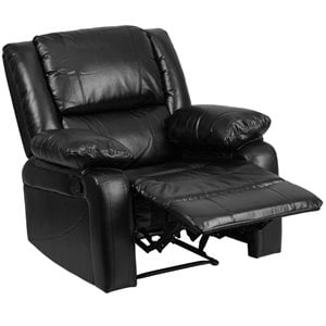 Flash Furniture Harmony Series Leather Recliner in Black