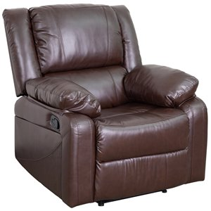 Flash Furniture Leather Recliner in Brown