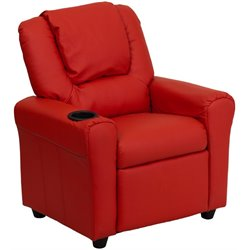 Flash Furniture Kids Recliner in Red