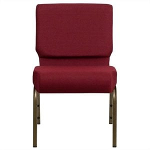 Church Stacking Chair in Gold and Burgundy