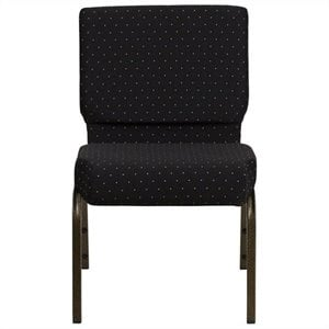 Dotted Church Stacking Guest Chair in Black