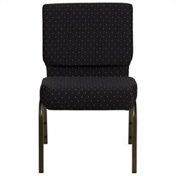Flash Furniture Hercules Series Dotted Church Chair in Black