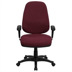 Flash Furniture High Back Computer Chair in Burgundy