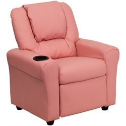 Flash Furniture Kids Recliner in Pink